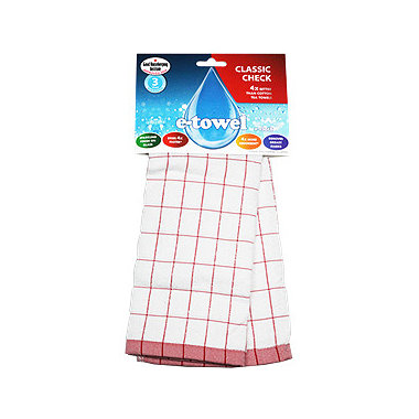 Red E-cloth® Tea Towel