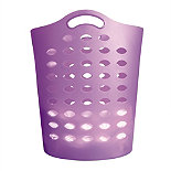 Tall Lilac Flexible Laundry Basket
