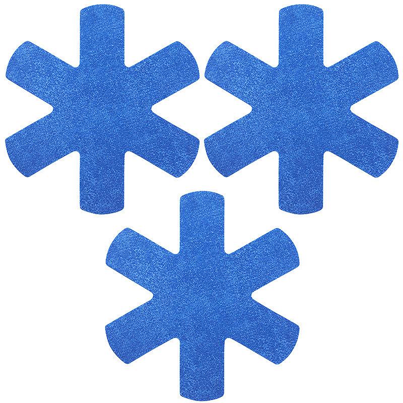 3 Anti Scratch Kitchen Pan Protectors - Blue
