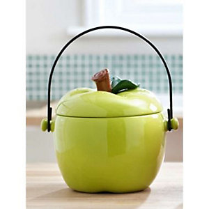 Green Apple Compost Crock
