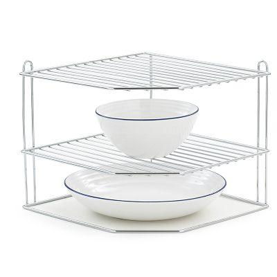 Corner Plate Rack In Shelf Organisers At Lakeland