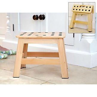 Fold Up Wooden Step Stool Lakeland