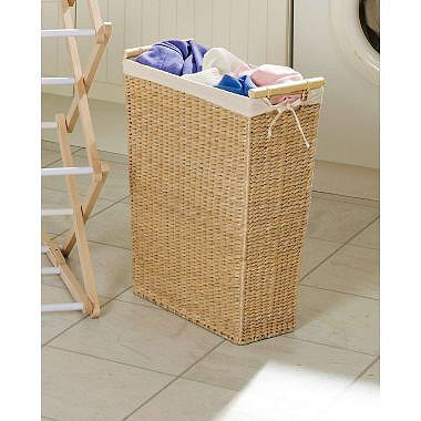 Slimline laundry basket in laundry baskets and bins at lakeland - Narrow clothes hamper ...