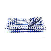Blue & White Check Poli Dri Cotton Tea Towel