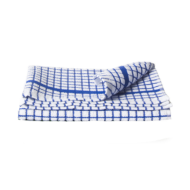 Blue & White Check Poli Dri Cotton Tea
