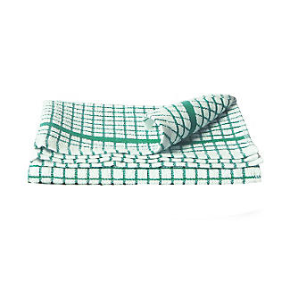 Green & White Check Poli Dri Cotton Tea Towel