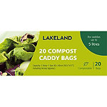 20 Compostable Compost Bin Caddy Bags - White 5L