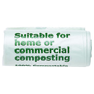 20 Compostable Compost Bin Caddy Bags - White 5L alt image 2