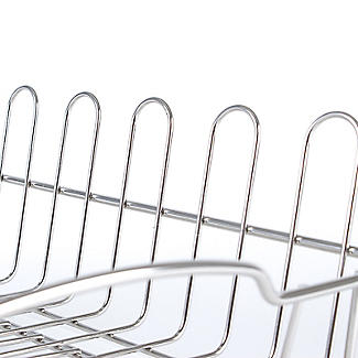 Oblong Small Compact Dish Drainer Rack - Stainless Steel alt image 5