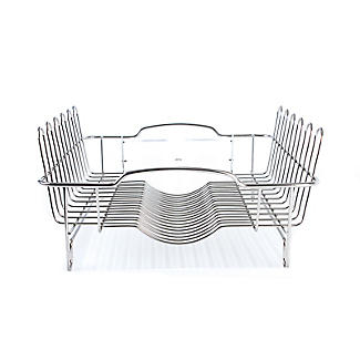 Oblong Small Compact Dish Drainer Rack - Stainless Steel alt image 7