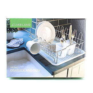 Oblong Small Compact Dish Drainer Rack - Stainless Steel alt image 8