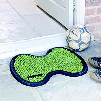 Astroturf Hard Wearing Outdoor Door Mat Green - 54 x 44cm