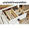 5 Piece Wooden Kitchen Drawer Divider