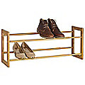 Extending & Stackable Steel 10 Pair Shoe Rack - Wood Effect