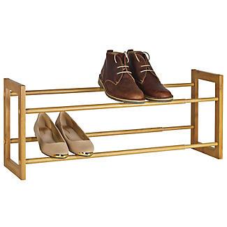 Stapelbares & Erweiterbares Schuhregal in Holzoptik - für 10 Paar