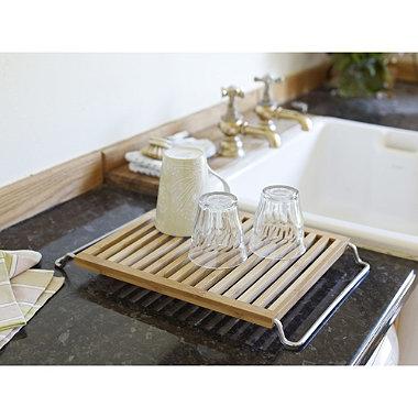 Umbra 174 Bamboo Slat Drying Rack In Dish Racks And Drainers