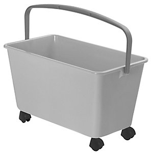 Squizzo Wide Mop Cleaning Bucket & Handle - White 13L