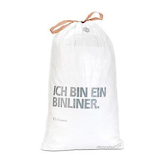 10 Brabantia® Size L Drawstring Bin Liners - White Bags 45L alt image 2