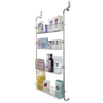 4 tier over door hook hanging cupboard storage rack. Black Bedroom Furniture Sets. Home Design Ideas