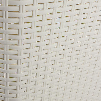 Curver Faux Rattan Lidded Laundry Basket 60L alt image 3