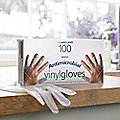 100 Large Disposable Antimicrobial Vinyl Gloves