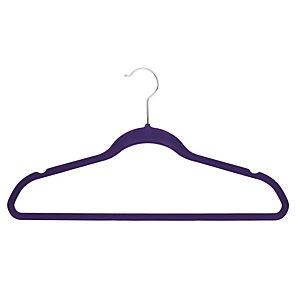 4 Slim Non-Slip Hangers in Purple