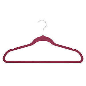 4 Slim Non-Slip Hangers in Berry