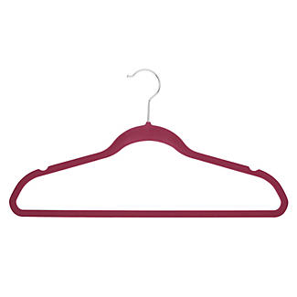 4 Slim Non-Slip Hangers in Berry