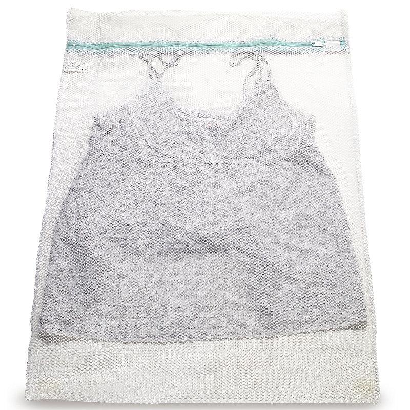 2 White Mesh Net Washing Bags - Large