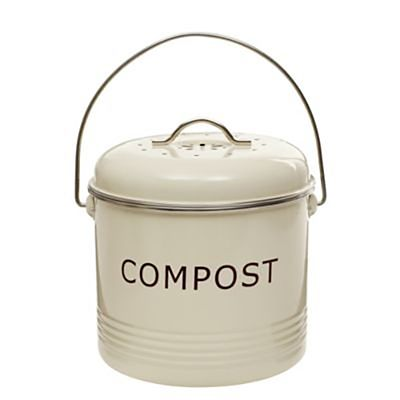tabletop compost food bin 5l cream