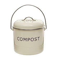 Lakeland Food Compost Bin - Cream 5L
