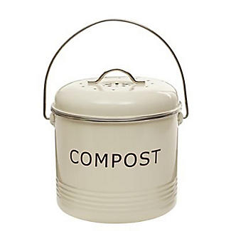 Lakeland Food Compost Bin - Cream 3.5L