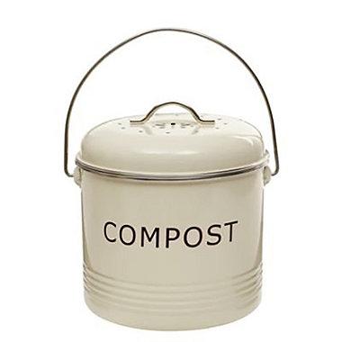 Cream Compost Bin