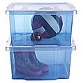 2 Stackable Storage Boxes