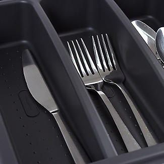 Expanding Drawer Organiser Cutlery Tray 4-5 Hole - Black alt image 5