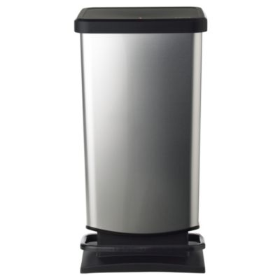 Rotho Kitchen Waste Pedal Bin  Metallic Effect 40L