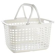Wäschekorb mit 2 Tragegriffen, weiß 25 L