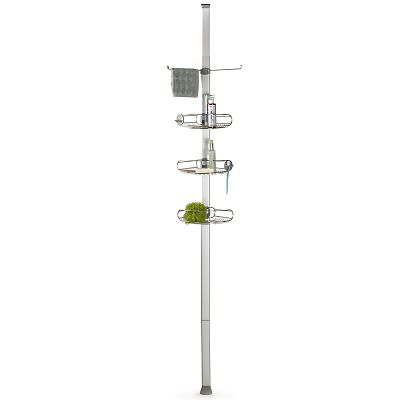 Simplehuman tension shower caddy stainless steel - Bathroom corner caddy stainless steel ...