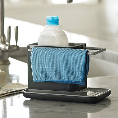 joseph joseph caddy sink organiser grey in worktops and sink accessories at lakeland. Black Bedroom Furniture Sets. Home Design Ideas