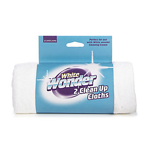 2 White Wonder Clean-Up Cloths