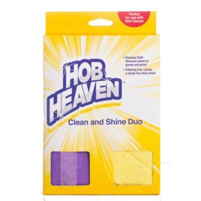 Hob Heaven&8482 Clean & Shine Duo Ceramic Hob Cleaning Cloths