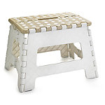Basket Print Folding Step-Stool