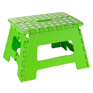 Green Folding Handy Non Slip Step Stool Up To 150kg
