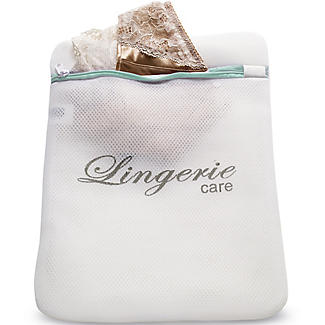 White Mesh Net Washing Bag - Padded For Silks & Lace
