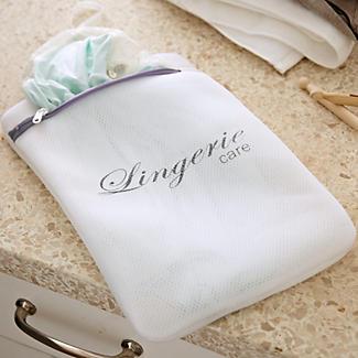 White Mesh Net Washing Bag - Padded For Silks & Lace alt image 2