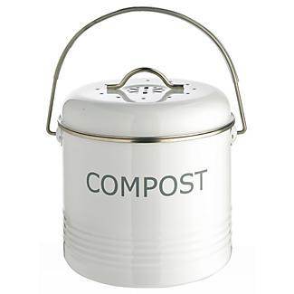 White Compost Bin alt image 1