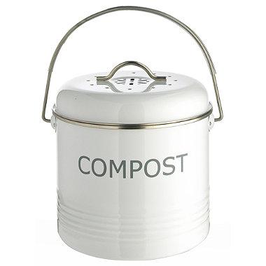 White Compost Bin