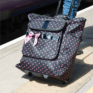 Polka Dot Wheelie Bag