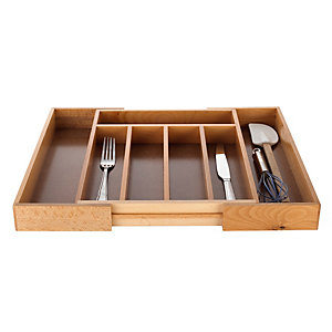 Extending Wooden Cutlery Tray