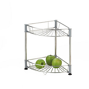 Small Stainless Steel Curved Shelf Unit